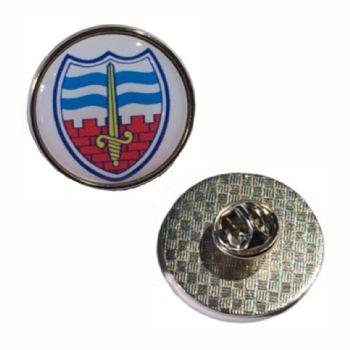 27mm premium silver badge clutch